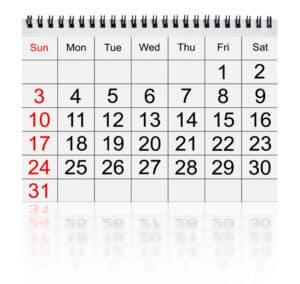 Der Urlaubsanspruch bemisst sich daran, wie viele Tage in der Woche Sie arbeiten.