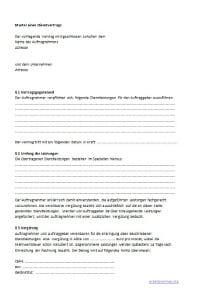 Muster: Dienstvertrag im Arbeitsrecht