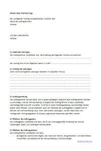 Muster: Werkvertrag im Arbeitsrecht