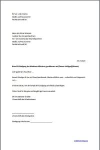 Muster: Allgemeines Kündigungsschreiben