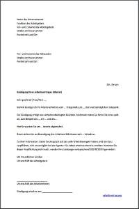 muster verhaltensbedingte kndigung eines arbeitnehmers - Muster Kundigungsschreiben