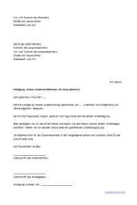 muster kndigung schreiben als arbeitnehmer - Kundigung Arbeitsvertrag Muster