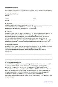 Muster: Anstellungsvertrag für Arbeitnehmer