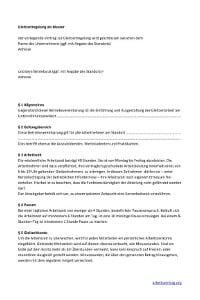Muster: Gleitzeitvereinbarung