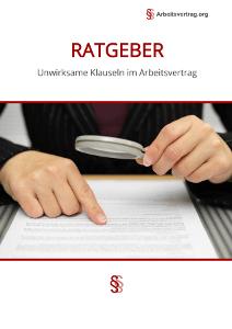 Unwirksame Klauseln Im Arbeitsvertrag Arbeitsrecht 2018