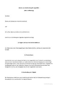 das muster zum arbeitsvertrag fr angestellte - Arbeitsvertrag Muster Minijob