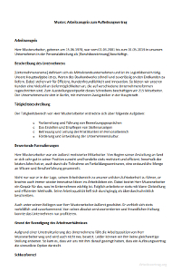 muster arbeitszeugnis zum aufhebungsvertrag - Aufhebungsvertrag Auf Wunsch Des Arbeitnehmers Muster