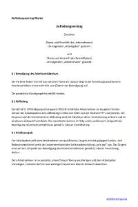 Muster: Aufhebungsvertrag